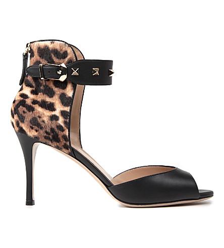 VALENTINO Rockstud sandals (Blk/brown