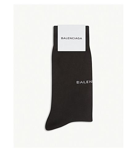 BALENCIAGA Logo detail cotton socks (Black