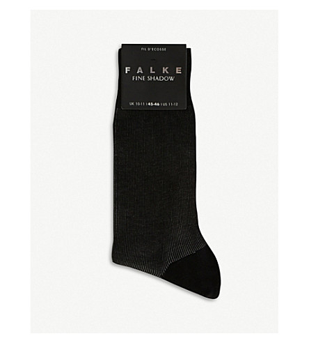 FALKE Fine shadow socks (Black+grey