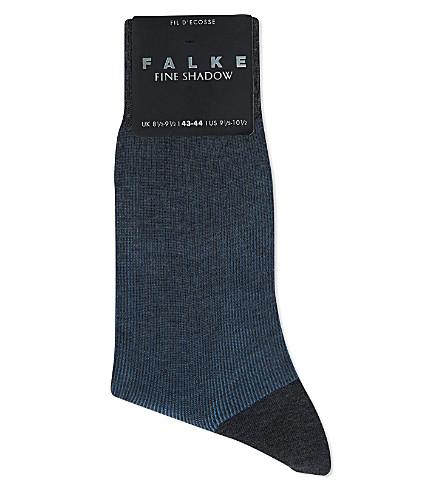 FALKE Fine shadow socks (Grey/blue