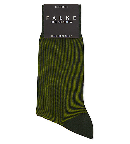 FALKE Fine Shadow cotton-blend socks (Green