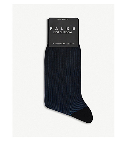 FALKE Fine Shadow cotton-blend socks (Navy/blue