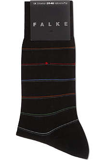 FALKE Shadow striped cotton socks