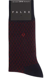FALKE 3D square pattern socks