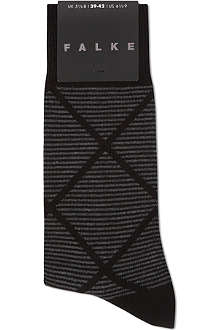 FALKE Mini striped diamond socks