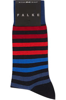 FALKE Bar striped cotton socks