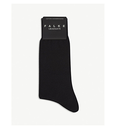 FALKE Graduate cotton-cashmere socks (Black