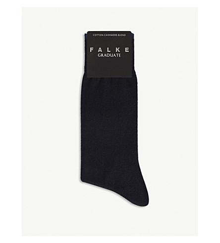 FALKE Graduate cotton-cashmere socks (Dark+navy