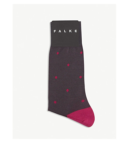 FALKE Spotted cotton socks (Anthracite