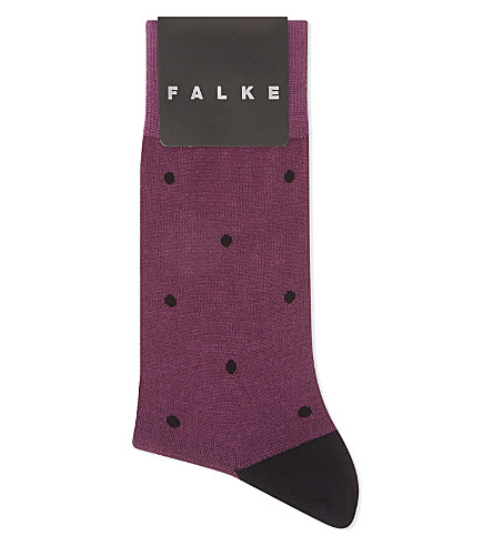 FALKE Spotted cotton socks (Black+/+purple
