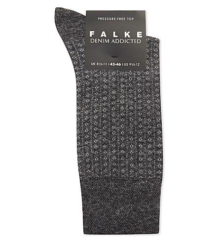 FALKE Denim Addicted cotton-blend socks (Grey+mel