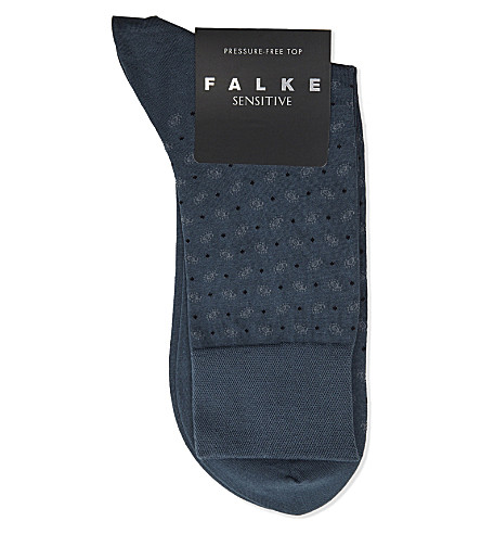 FALKE Sensitive paisley socks (Lt+teal