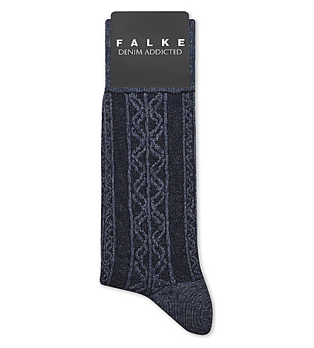 FALKE Denim Addicted socks (Navy