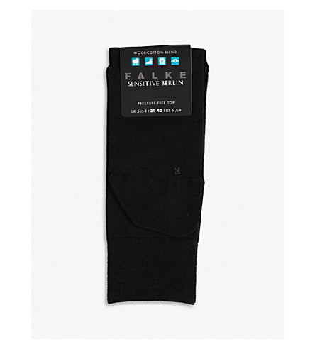 FALKE Berlin sensitive wool socks (Black