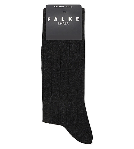 FALKE Lhasa ribbed socks (Anthracite