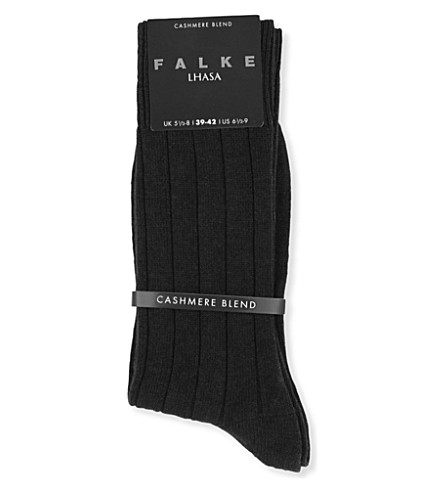 FALKE Lhasa wool-cashmere socks (Black
