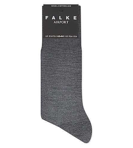 FALKE Airport socks (Dark+grey