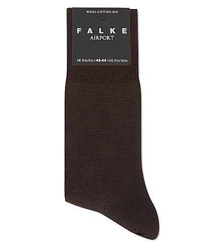FALKE Airport socks (Dark+brown