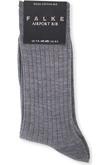 FALKE Airport ribbed socks