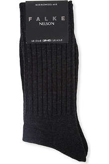 FALKE Nelson ribbed socks