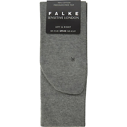 FALKE London sensitive socks (Light+grey