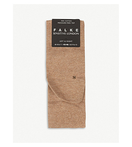 FALKE London sensitive socks (Nutmeg