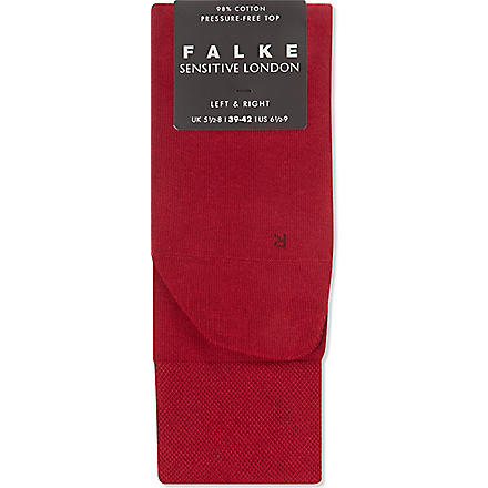 FALKE London sensitive socks (Berry+red