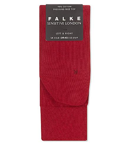 FALKE London sensitive socks (Berry+red