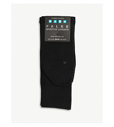 FALKE Sensitive London cotton socks (Black