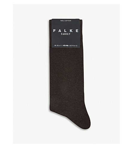 FALKE Family socks (Dark+brown
