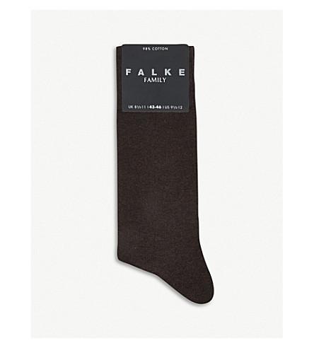 FALKE 家庭袜 (深色 + 棕色