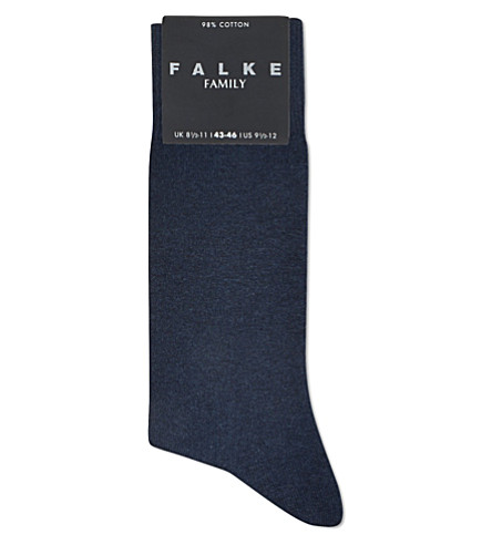 FALKE Family socks (Navy+blue