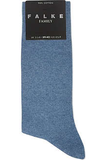 FALKE Family plain socks
