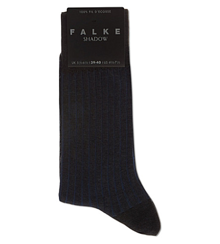 FALKE Shadow ribbed socks (Charcoal