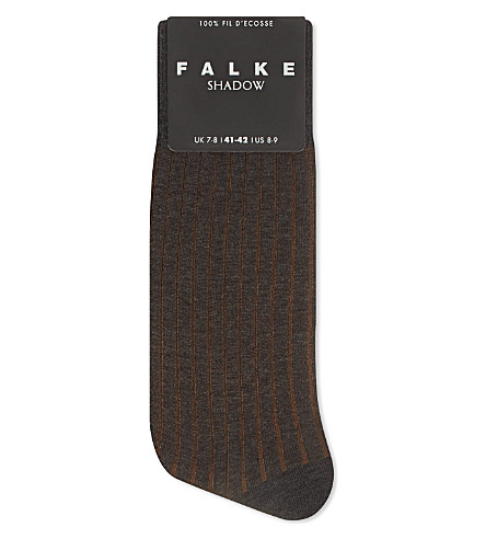 FALKE Stripe shadow socks (Grey/brown