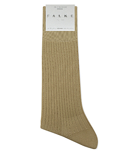 FALKE No10 fil d'ecoss cotton socks (Sand
