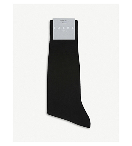 FALKE No.4 silk-blend socks (Black