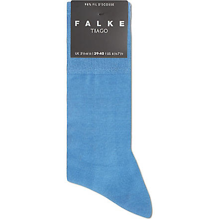 FALKE Tiago plain socks (Blue