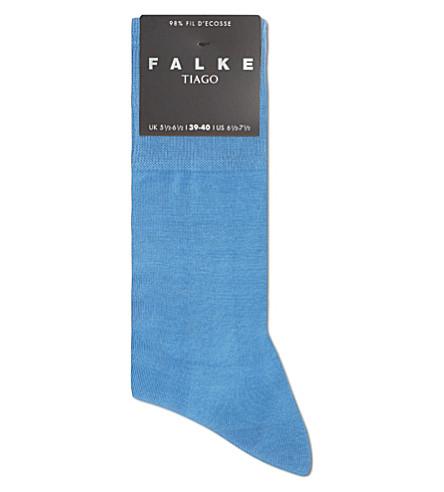 FALKE Tiago plain socks (Blue