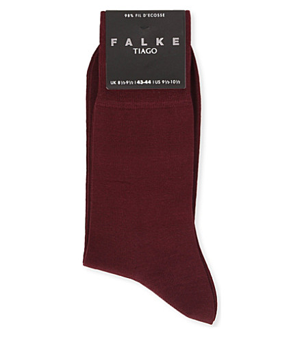 FALKE Tiago cotton-blend socks (Barolo