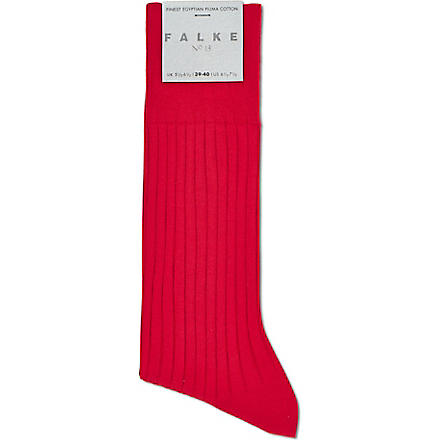 FALKE Luxury ribbed socks (Red