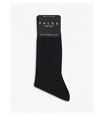 Dark FALKE navy FALKE socks Milano Dark Milano socks navy WtqAFw0nx