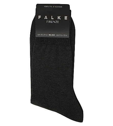 FALKE Firenze cotton socks (Anthracite