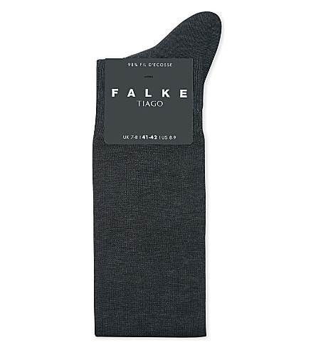 FALKE Anti-slip stretch-cotton knee-high socks (Anthracite