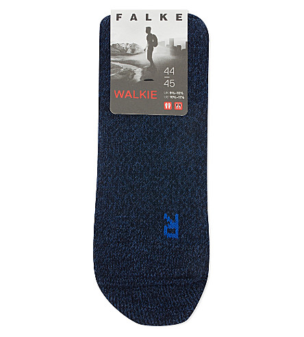 FALKE Walkie high-volume walking socks (Blue+denim