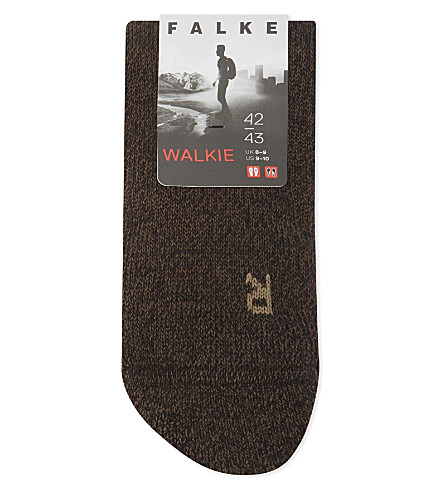 FALKE Walkie high-volume walking socks (Brown