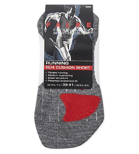 FALKE RU4 Cushion short socks (Wht+grey