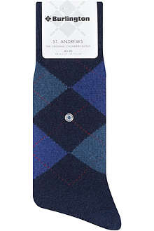 BURLINGTON St. Andrews cashmere-blend socks