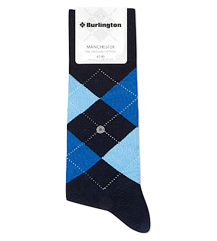 BURLINGTON Manchester original cotton socks (Navy