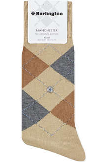BURLINGTON Manchester mercerised-cotton socks